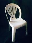 Chaise blanche Corolia